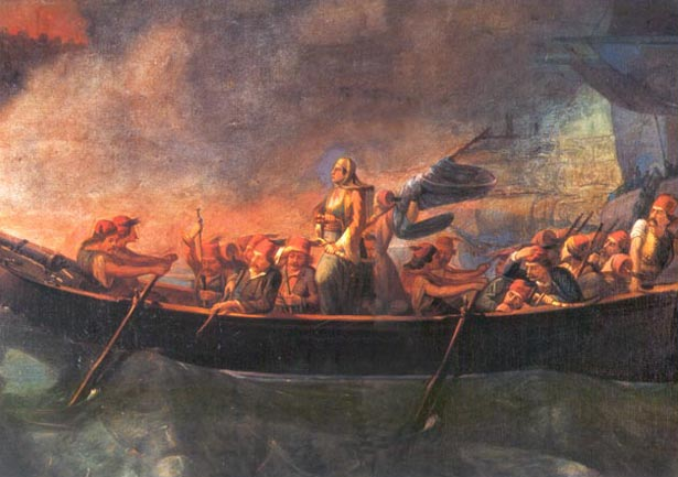 Bouboulina_attacking_Nafplion_19th_c_painting