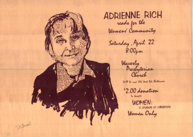 Sowbel's poster for Adrienne Rich copy
